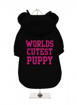 Worlds Cutest Puppy Fleece Lined Hoodie