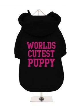 Worlds Cutest Puppy Fleece Lined Hoodie