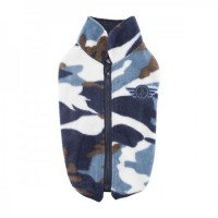 Puppia Fleece Zip Up Camo Airman Sweater