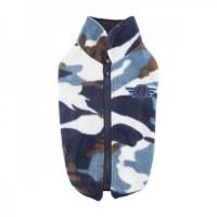 Puppia Fleece Zip Up Camo Airman Sweater