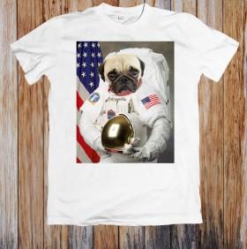 Astro Pug Funny Unisex T shirt