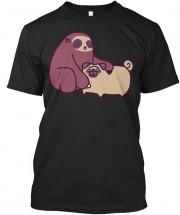 Sloth Pug Unisex T Shirt
