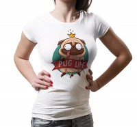 Ladies Pug Life T Shirt