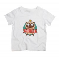 Cute Pug Life Kids T Shirt