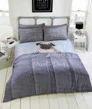 Duvet Day Pug Double Duvet Set