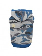 Puppia Ensign T-Shirt Hoodie Camo Blue