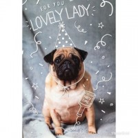 For You Lovely Lady Pug Birthday Card