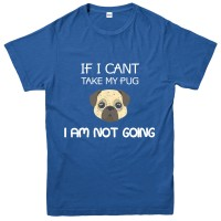 Funny Unisex Pug T Shirt (Available in 3 colours)