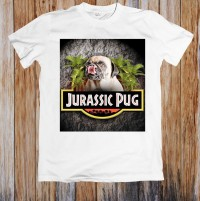 Jurassic Pug Funny Unisex T shirt
