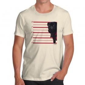 Black Pug Mug Shot T-Shirt (Available in 6 colours)