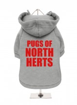 Pugs Of North Herts Fleece Lined Hoodie (Available in 4 colours)