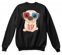 Unisex Pug Popcorn Sweater