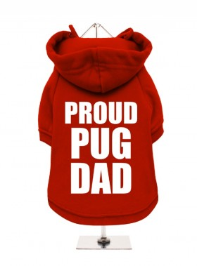 Proud Pug Dad Fleece Lined Hoodie (Available in 3 colours)