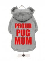 Prous Pug Mum Fleece Lined Hoodie (Available in 6 colours)