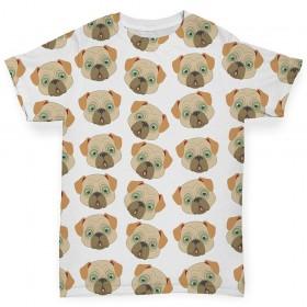 Pug Printed Baby T Shirt (Newborn -24 months)