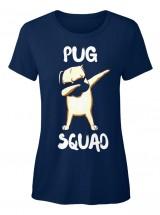 Ladies Pug Squad T Shirt
