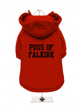 Pugs Of Falkirk Fleece Lined Hoodie (Available in 3 colours)
