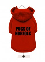 Pugs of Norfolk Fleece Lined Hoodie (Available in 4 colours)