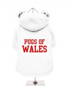 Pugs Of Wales  Fleece Lined Hoodie (Available in 3 colours)