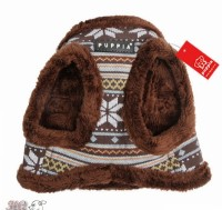 Puppia Fleece Lined Brown Snowball Harness Jacket