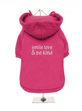 Smile Love & Be Kind Fleece Lined Hoodie (Available in 5 colours)