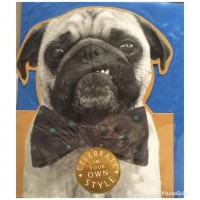 Cool Pug Birthday Card