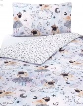 Unicorn Pug Single Duvet Set