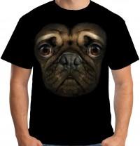Unisex Large Face Pug T Shirt