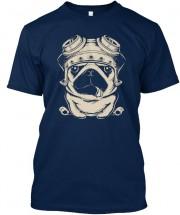 Biker Pug Unisex T Shirt