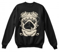 Biker Pug Unisex Sweater