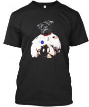 Black Pug Astronaut Unisex T Shirt