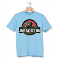 Jurassic Black Pug Funny Unisex T shirt