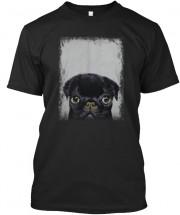 Cute Black Pug Puppy Unisex T Shirt