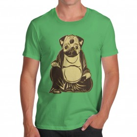Mens Buddha Pug T-Shirt (Available in 3 colours)