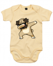 Dab Pug Baby Grow (Available in 9 colours)