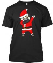 Pug Dabbing Santa Unisex T Shirt