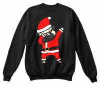 Dabbing Santa Pug Christmas Sweater