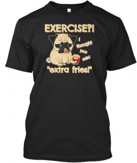 Funny Unisex Pug Black T Shirt