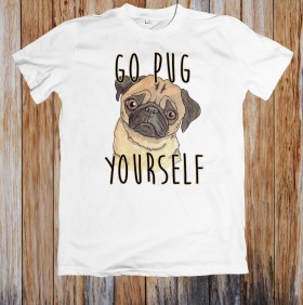 Unisex Funny Pug T Shirt