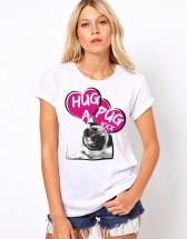 Ladies Hug A Pug T Shirt