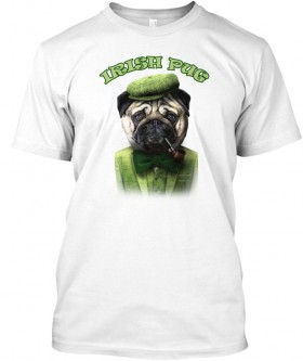 Irish Pug Unisex T Shirt