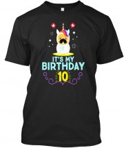 Unisex Pug 10th Birthday T Shirt