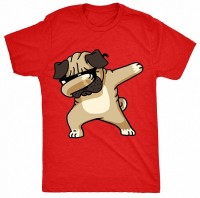 Kids Pug Dabbing T Shirt (Available in 7 colours)