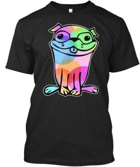 Multi Coloured Pug Art Unisex T Shirt
