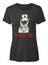 Pug Nurse Ladies T Shirt
