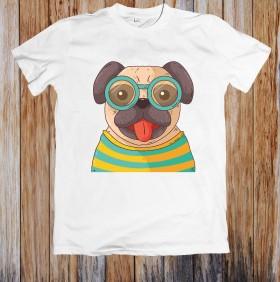 Cute Unisex Pug T Shirt