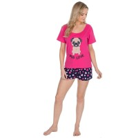 Pug Love Ladies Pug PJ Set