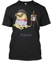 Pugcasso Unisex T Shirt