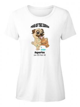 Funny Zodiac Pug  T Shirt