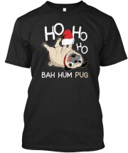 Unisex Cool Silly Pug Christmas T Shirt